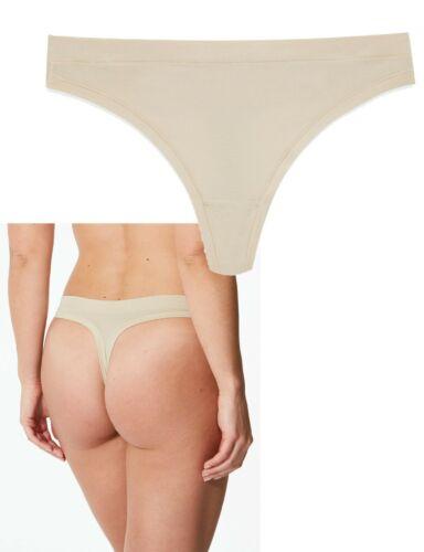 Nouveau Ex m/&s nude//amande Flexifit Modal Riche string en taille 22 Pack De 5
