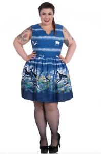 b345962610383 Sale! Plus Size Blue Dreamland Cotton Dress 2XL 3XL 4XL American Tea ...