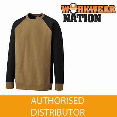Dickies Two Tone Work Crew Neck Jumper Mens SH3008 Womens Durable Sweatshirt