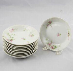 10-Ch-Field-Haviland-GDA-Limoges-Berry-Fruit-Dessert-Bowls-Pink-Flowers-5-1-4-034