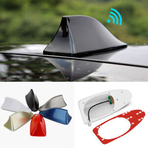 Universal Car Shark Fin Roof Antenna Amplifier Radio Signal FM/AM Aerial Cover