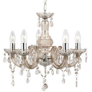 Lumiere-Lampe-De-Plafond-Chromee-Noir-Argent-Cristal-Or-Pendell-Et