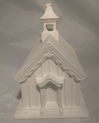 """Post Office Village House 6/"""" x 7/"""" x 6/""""  ready to paint ceramic bisque"""