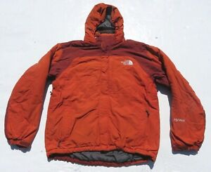 e93c572f4 Details about Men The NORTH FACE Orange Hyvent Insulated Puffer Hooded  Jacket Snow SKI Small