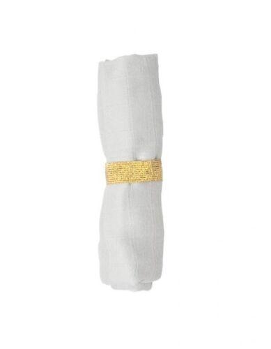 Fabelab Mulltuch eisgrau Bio-Baumwolle Schmusetuch Spucktuch Babytuch Schal