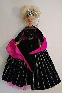 "1998 Happy Holidays Barbie Doll Mattel Pink No Box 12"" Doll Collectible"