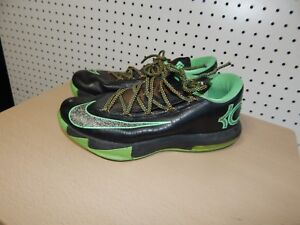 online store 02d64 e82a2 Image is loading Mens-Nike-KD-6-Basketball-Shoes-black-green-