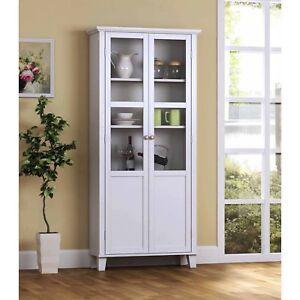 Kitchen Storage Cabinet Tall Curio China Hutch Cupboard Organizer 5