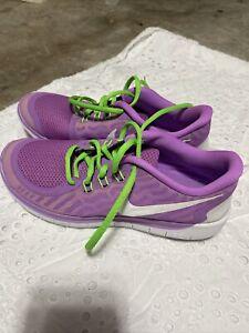Nike-Free-5-0-GS-Kids-Sz-7Y-Purple-Green-White-725114-500-Women-s-8-5
