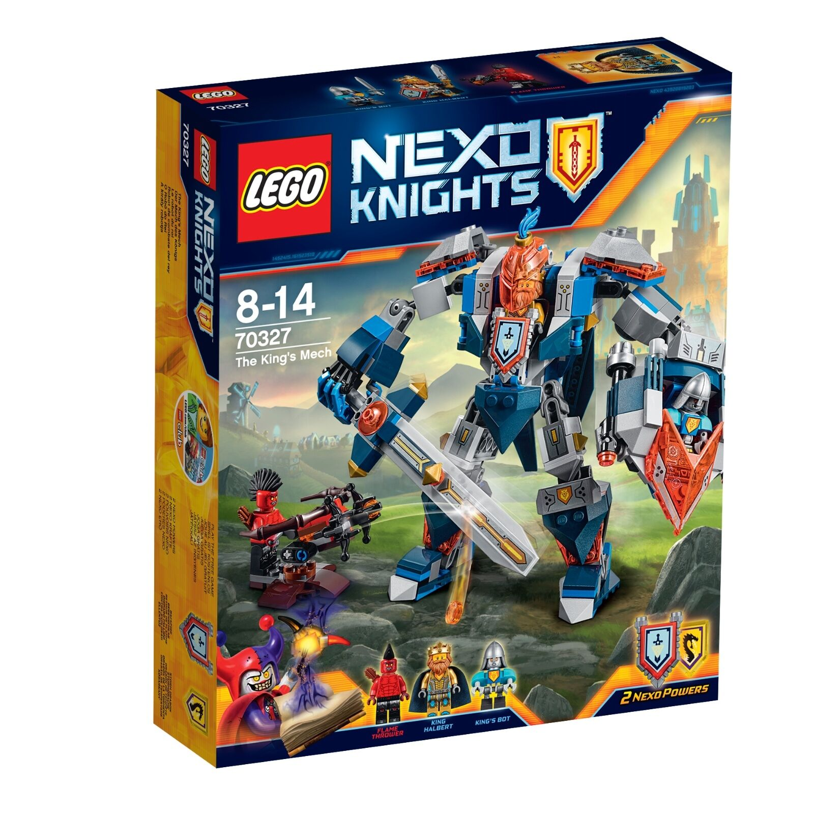 LEGO ® Nexo Knights ™ 70327 la MECH DEL RE NUOVO OVP _ The King's Mech NEW MISB