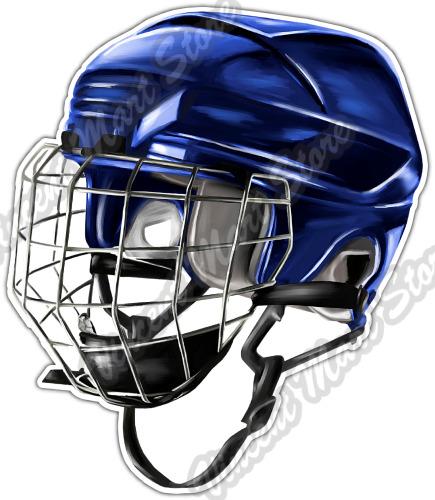 Ice hockey helmet mask sport equipment puck car bumper vinyl sticker decal 4x5 ebay