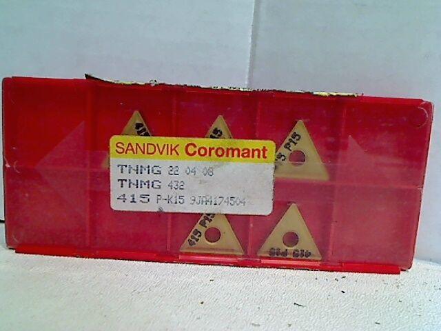 New Box of 10 Inserts Sandvik Coromant TNMG 16 04 08L-K 2035 TNMG 332L-K 2035