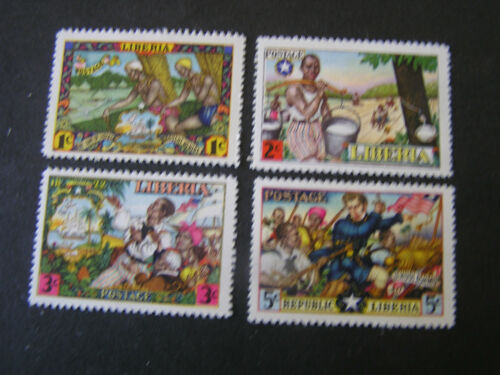 *LIBERIA, SCOTT # 309-312(4),COMPLETE SET 1949 FIRST IMMIGRATION.ISSUES MH