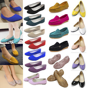 Women-Ladies-Flats-Pumps-Ballet-Dolly-Slip-On-Loafers-Court-Casual-Holiday-Shoes