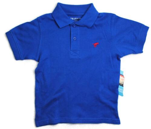 NWT WRANGLER  Boys Kid Clothes Short Sleeve Blue Collar Top Shirt Sz 18 Months