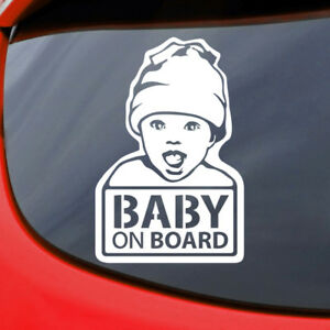 Baby-on-Board-Car-Sticker-Decal-Vinyl-Window-Funny-Safety-Sign-Smile-Bumper-Cute