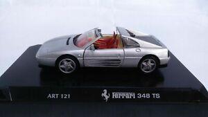 Coleccion-de-coches-de-Detalle-De-Corgi-Ferrari-348-TS-plata-1-43-Art-121-Diecast-Coche-de-juguete