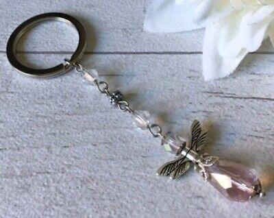 Keepsake//Xmas Gift Idea. Large Guardian Angel//Protection Keyring Bag Charm