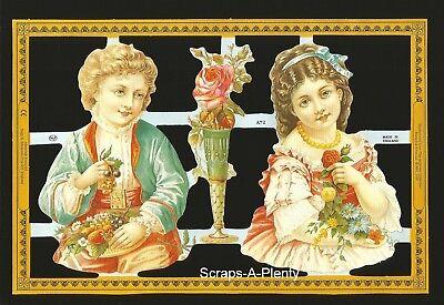 A73 Precious Children Archives Coll. Mamelok Embossed English Scrap Die Cut