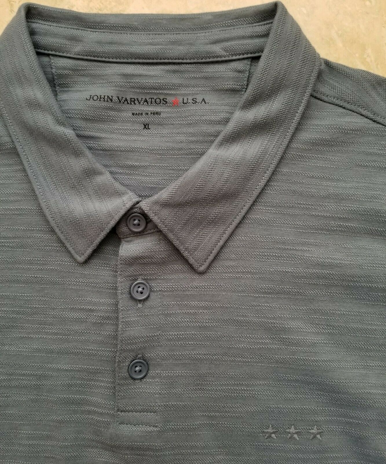 NWT John Varvatos Star USA Men's Short Sleeve Basic Polo Shirt Cotton