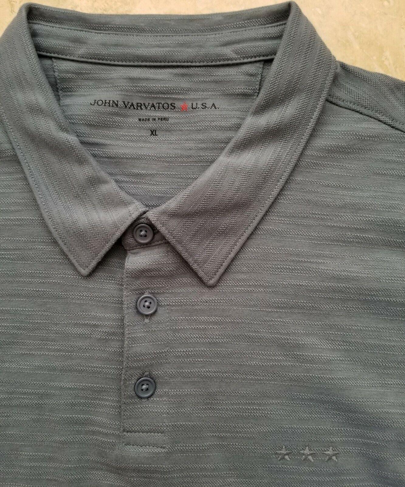 NWT John Varvatos Star USA Men's Short Sleeve Basic Polo Shirt Cotton