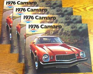 1976-Chevy-Camaro-Sales-Brochure-LOT-4-pcs-LT-Rally-Sport-Original-Xlnt