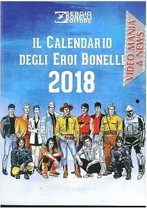 Calendar Heroes Bonelli 2018. Sergio Bonelli Publisher | eBay
