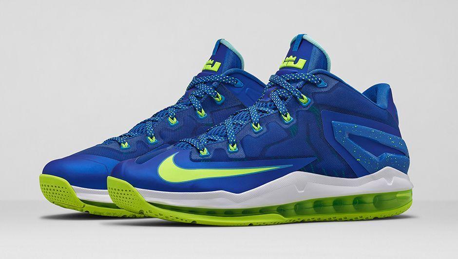 Nike Air Max LeBron 11 XI Low Sprite Size 12. 642849-471