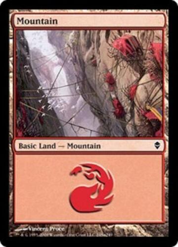 SP//NM Zendikar Magic MTG FTG Mountain 20 Basic Land #245a SAME ART
