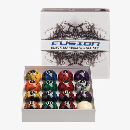 "Billiard Balls Set 2 1//4/"" Reg Size /& weight New Black Marble Swirl Pool Table"