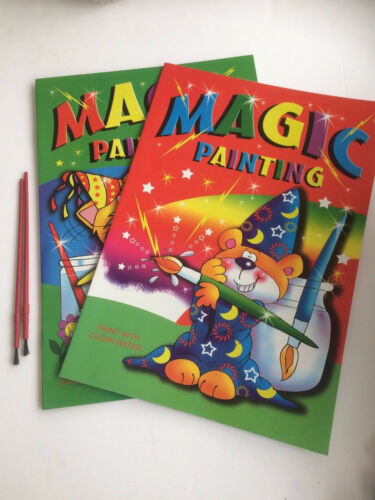 Paint with Water /& 2 Brushes 2 x Magic Painting Book