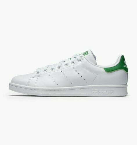 the latest 57748 9bef9 ADIDAS Men's Originals Stan Smith White-White-Green M20324 sz 7 - 13 MSRP  $120