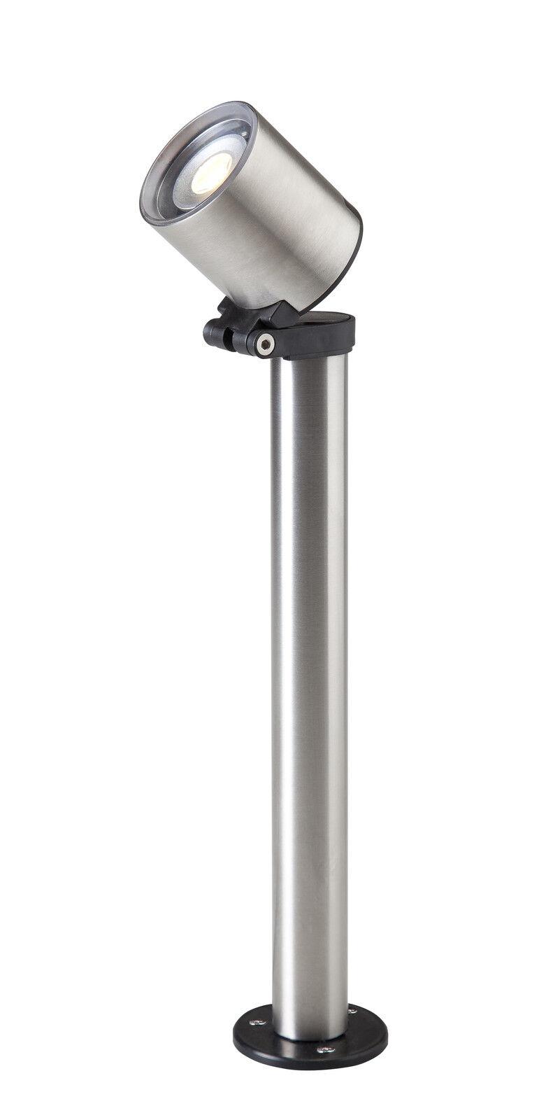 Techmar Lámpara de Jardín 12 Volt Índigo Acero Inox. Foco con Led 2 Watt