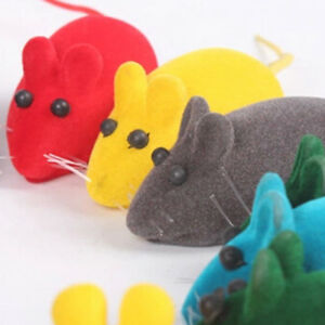 Funny Rat Playing Toy Cute Mouse Squeak Sound 2X For Cat Play Kitten Pet Toys