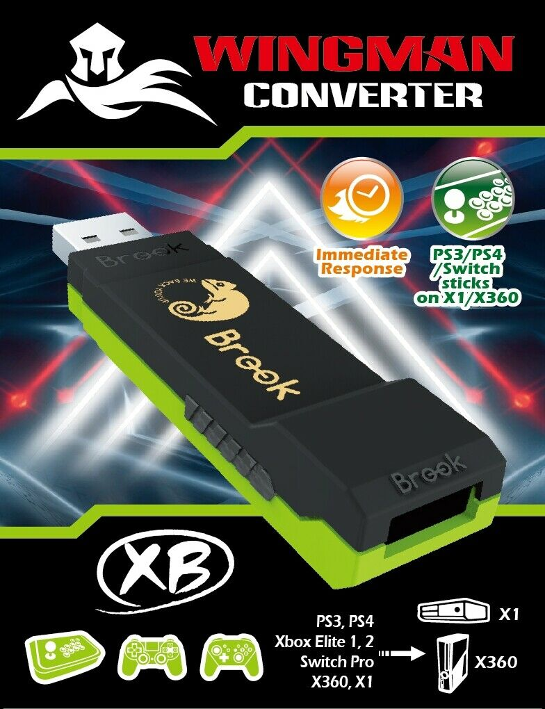 Brook PS4, PS3, Xbox One, Xbox 360, Switch Pro Controller to Xbox One/Xbox 360