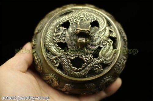 Antique Dragon Style Ancient Bronze Statue India Incense Burner