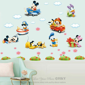 Disney-Baby-Mickey-Minnie-Mouse-Wall-Sticker-Removable-Vinyl-Decal-Nursery-Decor