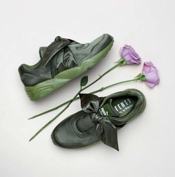 Puma X Rihanna Fenty Bow Sneakers Olive Branch Green w/Receipt ( femmes )