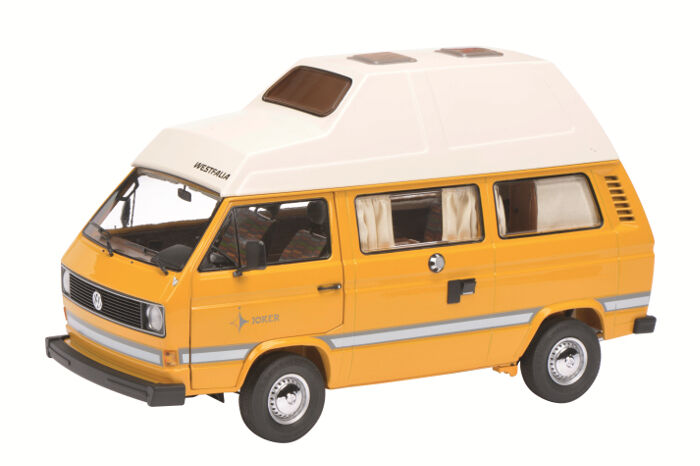 1979-1990 Volkswagen T3 Joker Camping Bus giallo 1 18 Diecast Schuco 450038500