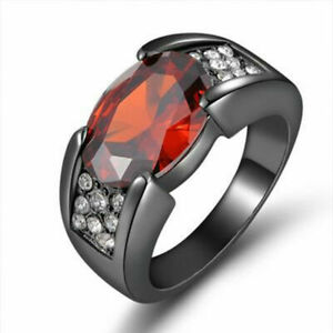 Black-Zircon-Dragon-Titanium-Stainless-Steel-Rings-Men-039-s-Wedding-Fashion-Band