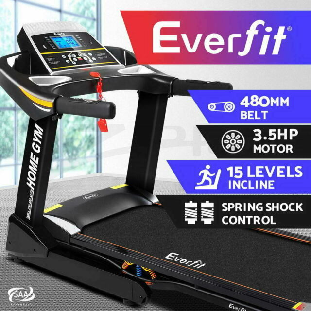Everfit Treadmill Electric Auto Incline Home Gym Exercise Machine Fitness 48cm