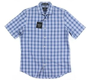 Nordstrom-Men-039-s-Shop-Regular-Fit-Cotton-Button-Up-Short-Sleeve-Shirt-Sz-M
