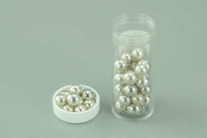 20G 8mm METALLIC SILVER EDIBLE CACHOUS PEARLS