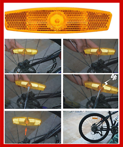 Bike Spoke Reflector Pair Bicycle Wheel Safety Warning Reflective New Mount Clip