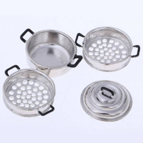 1//12 Doll House Miniature Kitchen Accessories Cookware /& Tableware Set Toys