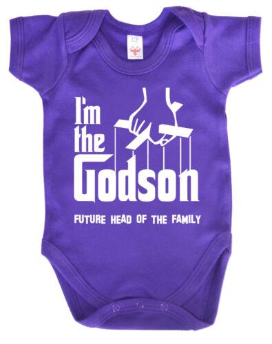 """Lustig Baby Body /"""" Ich die Godson /"""" Strampler Taufe Geschenk The Godfather"""