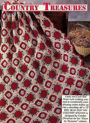 COUNTRY Granny Square Afghan/Crochet Pattern INSTRUCTIONS ONLY   eBay