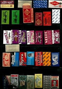 Egypt Uk Italy India Sweden Collectables Old Lot 32 Shaving Razor Blade Wrappers Ebay
