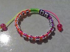 NEW handmade multicolour PERSONALISED ANY NAME SHAMBALLA STYLE BRACELET