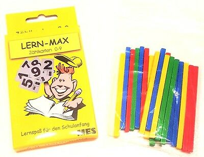 Zählkarten  0-20 Lernkarten Zahlenkarten Lern-Max